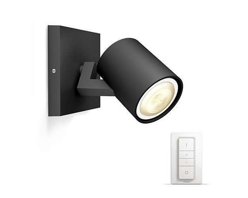 Philips Hue HUE Runner LED en surface 1xGU10 / 50W 250lm noir