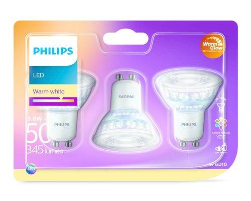 Philips Led lamp 3 PACK 50W GU10 2700K 36D WGD