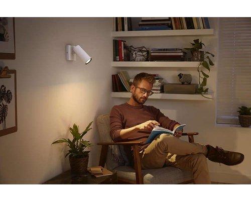 Philips Hue HUE Buratto White Ambiance LED en saillie 1x5,5W 250lm + interrupteur blanc
