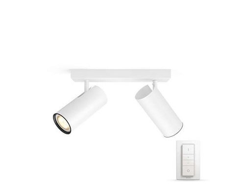 Philips Hue HUE Buratto White Ambiance opbouwspot LED 2x5,5W 250lm + switch wit