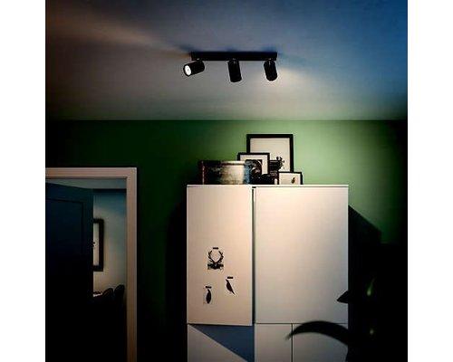 Philips Kosipo opbouwspot zwart 3-lichts