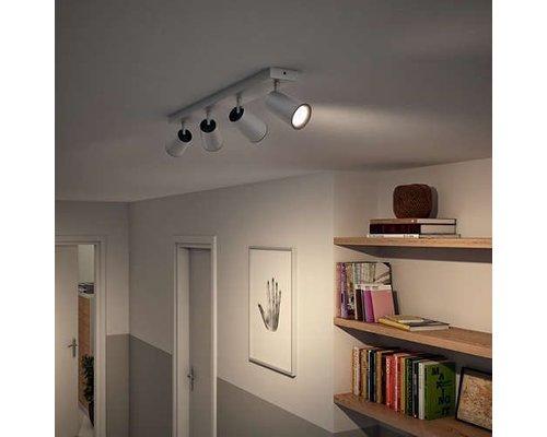 Philips Paisley opbouwspot aluminium 4-lichts
