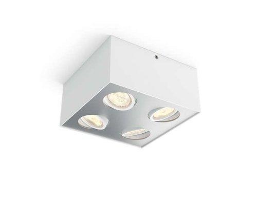 Philips Box opbouwspot wit 4-lichts