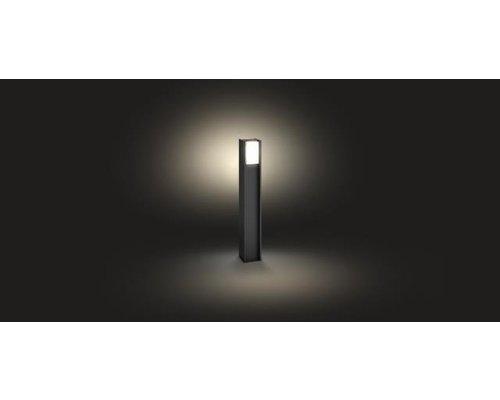 Philips Hue Turaco White tuinpaal LED 1xE27/806lm donkergrijs