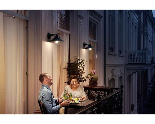 Philips Cormorant wandlamp zwart
