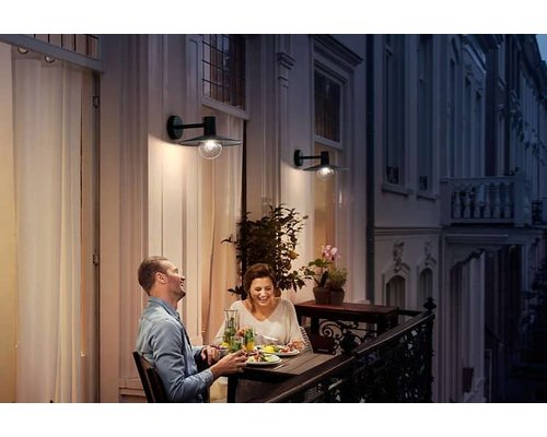 Philips Skua wandlamp zwart