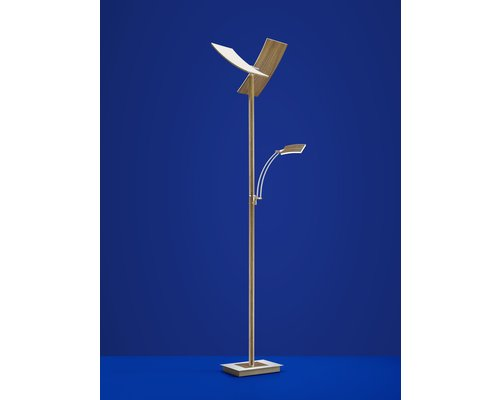 Light Gallery Duo vloerlamp hout 2 licht