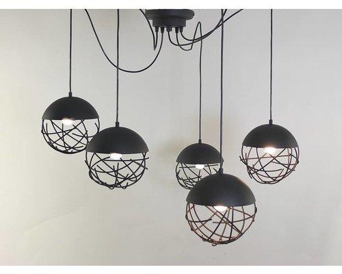 Light Gallery Minerva hanglamp zwart 5-licht