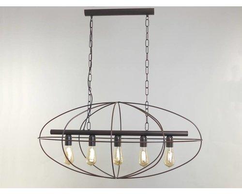 Light Gallery Lisboa hanglamp bruin 5-licht