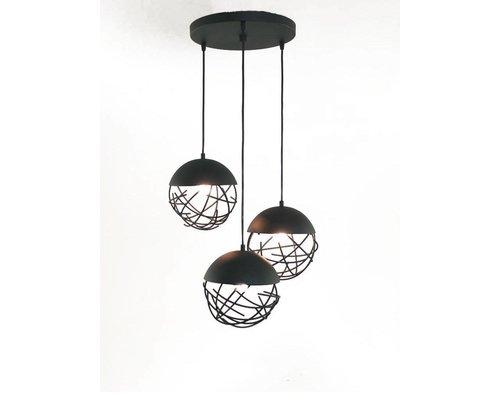 Light Gallery Minerva hanglamp zwart 3-licht
