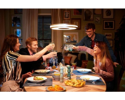 Philips Hue Lampe suspendue HUE Being White Ambiance LED 1x39W / 3000lm gris + interrupteur