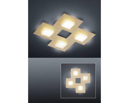 Light Gallery Diamond Vierkante Plafondlamp - Roosgoud