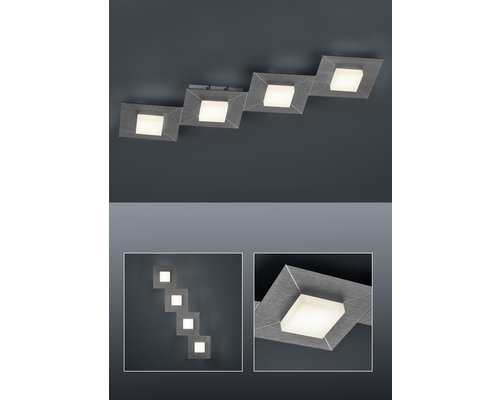 Light Gallery Diamond plafondlamp 4-licht line antraciet