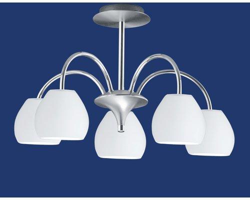 Light Gallery Centurion plafondlamp 5-licht zilver