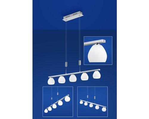 Light Gallery Centurion hanglamp zilver 5L