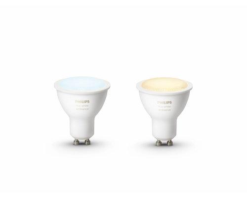 Philips HUE Lampe d'ambiance blanche 2xGU10
