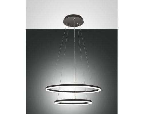 Light Gallery Giotto hanglamp LED 2 ringen 4680lm zwart