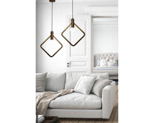 Light Gallery Cartesio hanglamp 1xE27 ruit antiek brons