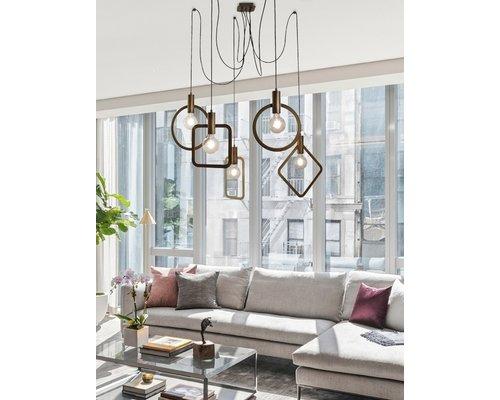 Light Gallery Cartesio hanglamp 5xE27 antiek brons