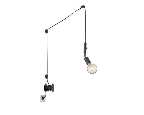 Light Gallery Stella hanglamp 6m 1xE27 zwart