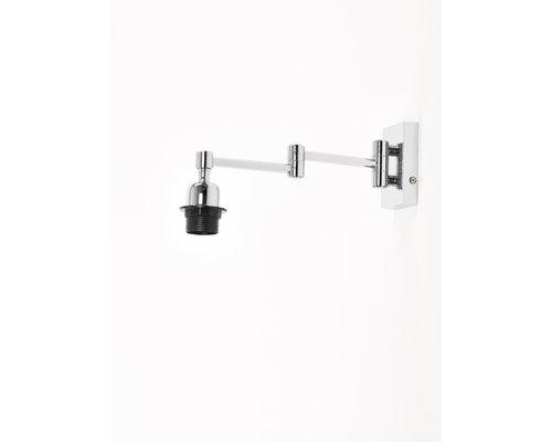 Light Gallery Mesa wandlamp uitschuifb voor kap 1xE27 nikkel