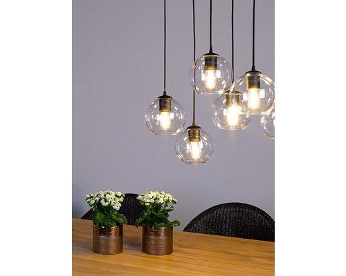 Light Gallery Bagel2 hanglamp 6xE27 ruggine
