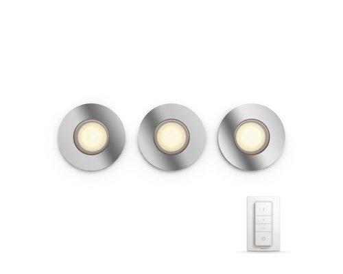 Philips HUE Adore White Ambiance inbouwspot LED 3xGU10/5W chroom