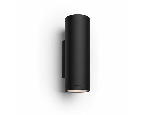 Philips Hue Appear wandlamp LED 2x8W/600lm IP44 zwart