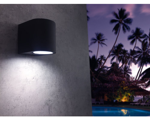 Light Gallery Applique Kandachu ronde 1xGU10 noir