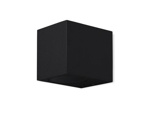 Light Gallery Kandachu wandlamp vierkant 1xGU10 zwart