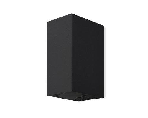 Light Gallery Kandachu wandlamp rechthoekig 2xGU10 zwart