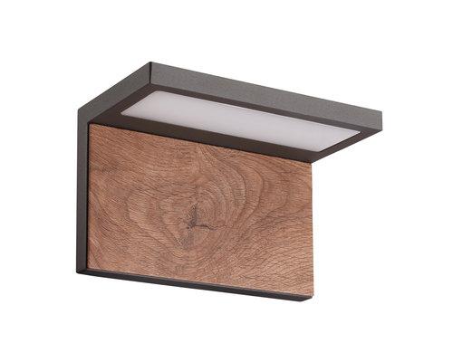 Light Gallery Applique Ruka IP54 980lm bois anthracite