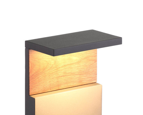 Light Gallery Borne Ruka 35cm IP54 bois anthracite
