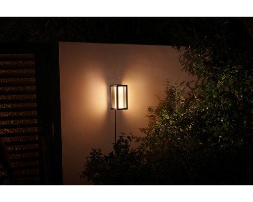 Philips Impress wandlamp LED 1x8W 1200lm LV ext. zwart