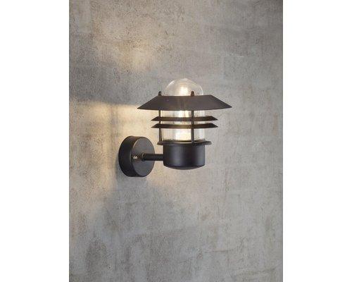 Light Gallery Blokhus wandlamp 1xE27 zwart