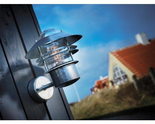 Light Gallery Blokhus wandlamp 1xE27 gegalvaniseerd staal