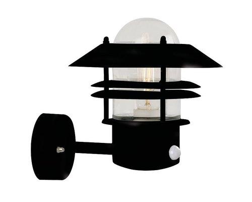 Light Gallery Blokhus sensor wandlamp 1xE27 zwart