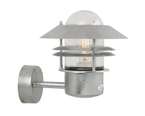 Light Gallery Blokhus sensor wandlamp 1xE27 gegalvaniseerd staal