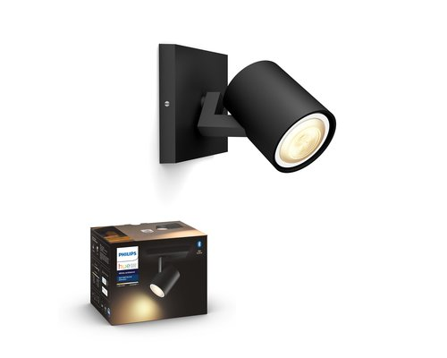 Philips Hue HUE Runner BT opbouwspot LED GU10 1x5W zwart ext.