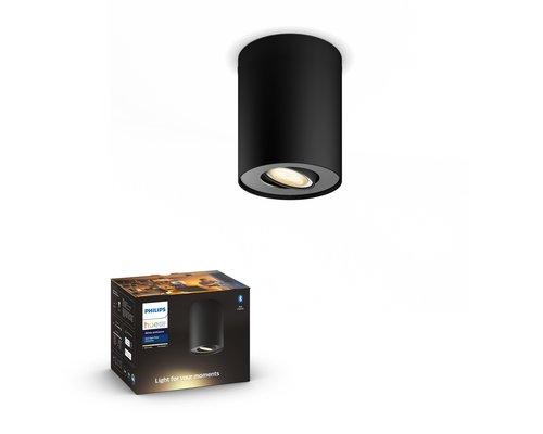 Philips Hue HUE Pillar BT spot apparent LED GU10 1x5W noir ext.
