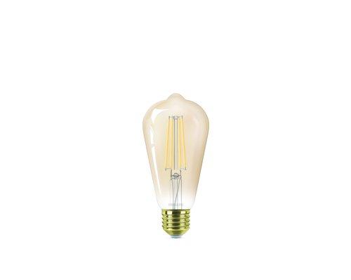Philips LED classic E27 50W 650lm 2200K edison gold