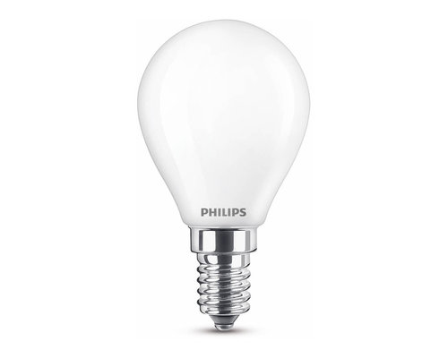 Philips LED classic E14 40W 470lm warmglow sphérique transparent