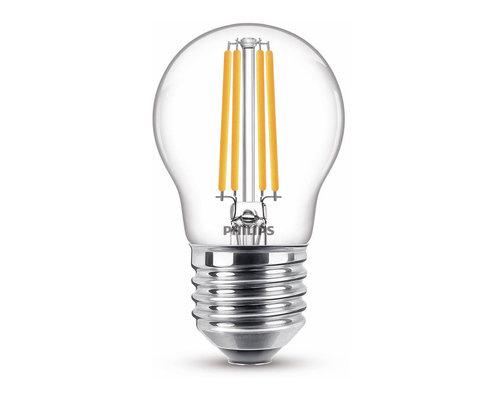 Philips LED classic E27 60W 806lm 2700K kogel transparant