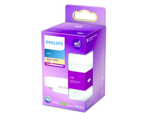 Philips LED GX53 500lm 2700K spot frosted