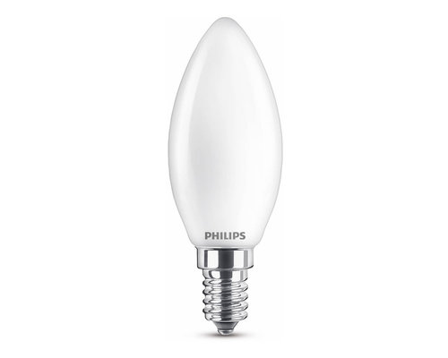 Philips LED classic E14 60W 806lm 2700K kaars frosted