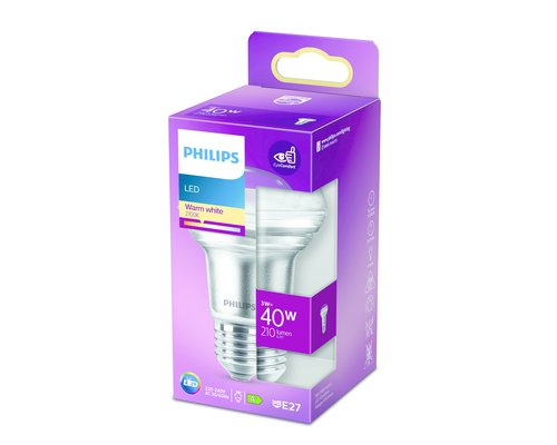 Philips LED classic E27 40W 255lm 2700K reflector transparant