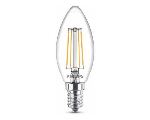 Philips LED classic E14 40W 470lm 2700K kaars transparant