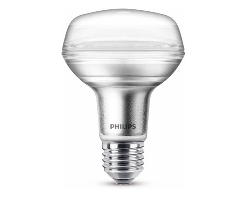 Philips LED classic E27 100W 735lm 2700K reflector transparant