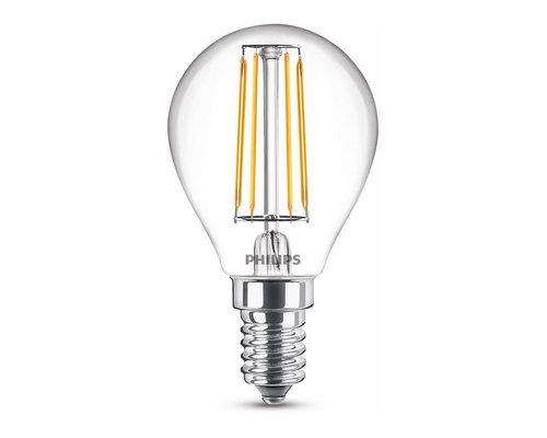 Philips LED classic E14 40W 470lm 2700K kogel transparant