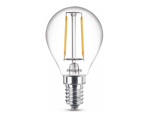 Philips LED classic E14 15W 136lm 2700K kogel transparant